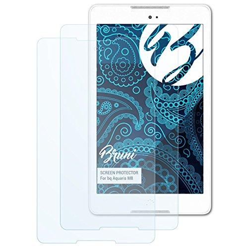 Bruni Schutzfolie kompatibel mit bq Aquaris M8 Folie, glasklare Bildschirmschutzfolie (2X)