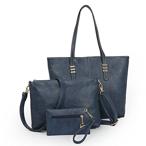 TSLX Neue Middle-Aged und Europäischen, Europäischen und Amerikanischen reine Schulter Bun Mutter Tasche blue