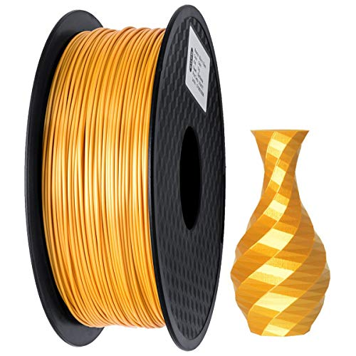 GIANTARM Filamento PLA 1.75mm Silk Oro, Stampante 3D PLA Filamento 1kg Spool