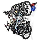 Supporto da Parete per 5 Biciclette, portabici portabici per casa e Garage a Muro reggono 5 Biciclette, 2Pezzi