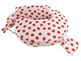 #6: MomToBe Cotton Fabric Feeding/Nursing Pillow- HD Foam,Red, Strawberry Print