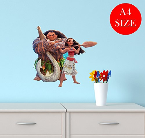 Price comparison product image A4 MOANA MAUI MOVIE nursery bedroom WALL ART BOY GIRL sticker laptop car GRAPHIC