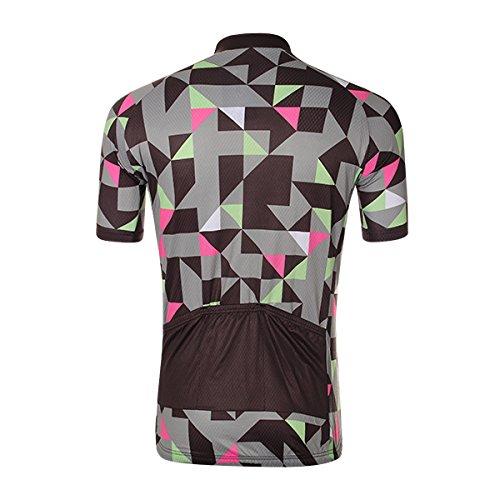 Mamaison007 Mens Cycling Jersey Mtb Biciclette Abbigliamento Ciclismo Elasticità Di Pantaloncini Poliestere Traspirante Rapida Asciugatura - Camuffare -L