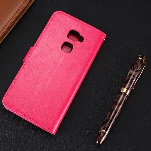 Wkae Case Cover Huawei Mate7 Fall feste Folio magnetische Design Flip Brieftasche Stil Fall Farbmuster PU-Leder-Abdeckung Standup-Abdeckungsfall für Huawei Mate7 ( Color : Blue , Size : Huawei Mate7 ) Red
