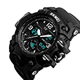 #8: SKMEI Large Dial Shock Outdoor Sports Watches Men Digital LED 50M Waterproof Military Army Watch Alarm Chrono Wristwatches 1155