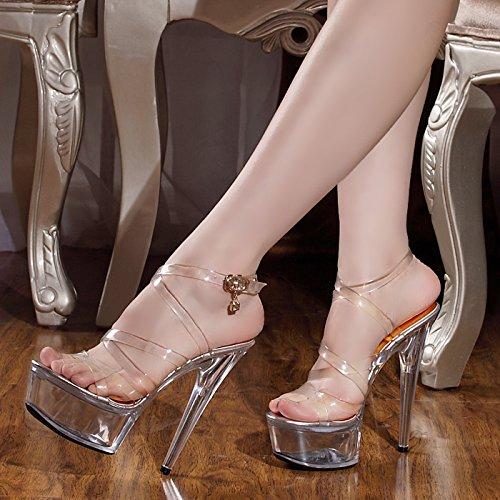 il club è matrimonio scarpe scarpetta scarpe sandali con sottili scarpe col tacco alto super performance trasparente