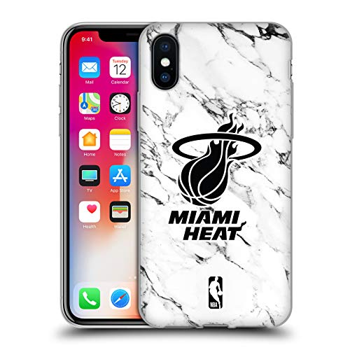Offizielle NBA Marmor Weiss 2018/19 Miami Heat Soft Gel Hülle für iPhone X/iPhone XS Miami Heat Cellular Phone Case