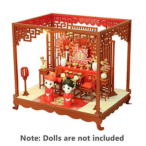 Rikey Casa delle Bambole Cinese Weding, Cerimonia di Nozze Classica, Storia d'Amore Romantica per I Regali di Compleanno di San...
