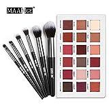 hahuha Makeups  Schönheitsprodukte ,Matt 18 Farben Luxus Golden Matt Nude Lidschatten-Palette + 6 STÜCKE Pinsel