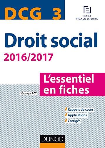 DCG 3 - Droit social 2016/2017-7e éd. - L'essentiel en fiches