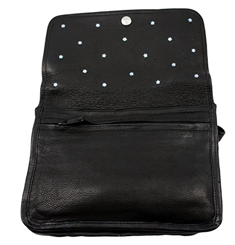 Strass Swarovski In Pelle Di Negozio Occidentale Borsa Nera, Dk, 112