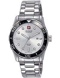 Swiss Military Hanowa 06-5213.04.001 - Reloj analógico de cuarzo para hombre, correa de acero inoxidable color plateado