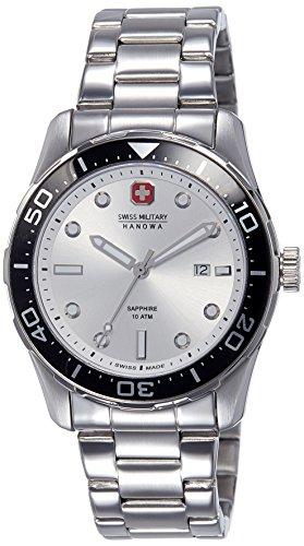 Swiss Military Hanowa Herren-Armbanduhr XL Analog Quarz Edelstahl 06-5213.04.001