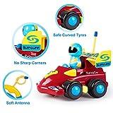SGILE Cartoon Racer Auto Spielzeug, ferngesteuerte Spielzeugauto für Kleinkinder Kinder Geburtstag Weihnachtsgeschenk Vergleich