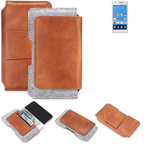 K-S-Trade Gürteltasche für Gionee Elife S5.5 Gürtel Tasche Schutz Hülle Hüfttasche Belt Case Schutzhülle Handy Hülle Smartphone Sleeve aus Filz + Kunstleder (1 St.)