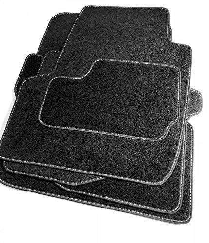 Preisvergleich Produktbild Velours Fußmatten bestehend aus vier Teilen in schwarz (O)