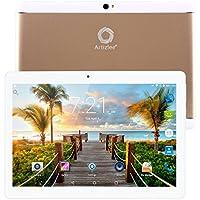 """Nuevo Tablet Artizlee ATL-31, 10.1"""" 4G Tablet Pc (Android 6.0, Octa Core, FHD 1920x1200 IPS, Dual Sim, 2GB RAM, 32GB, Cámara 5.0MP, WiFi, Bluetooth, OTG) Oro, 2017 Versión Actualizada"""