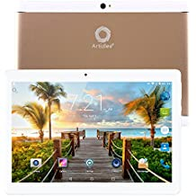 "Nuevo Tablet Artizlee ATL-21X, 10.1"" Tablet Pc (Android 6.0, Quad Core, FHD 1920x1200 IPS, 2GB RAM, 32GB, C¨¢mara 5.0MP, WiFi, Bluetooth, OTG) Oro, 2017 Versi¨®n Actualizada"