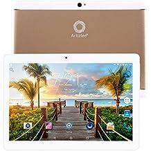 "Nuevo Tablet Artizlee ATL-21X, 10.1"" Tablet Pc (Android 6.0, Quad Core, FHD 1920x1200 IPS, 2GB RAM, 32GB, Cámara 5.0MP, WiFi, Bluetooth, OTG) Oro, 2017 Versión Actualizada"