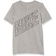 Nike B Nsw Tee Ss Kaishi Futura Camiseta de Manga Corta, Niños, Gris (Dk Grey Heather / Black), XS
