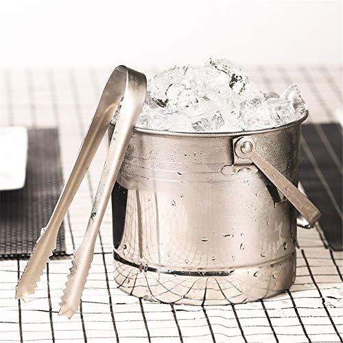 Stainless Steel Portable Ice Bucket European Ice Bucket Bar Ktv Service Wine Barrel Ice Compartment Small Ice Bucket 1L Lo29601,A
