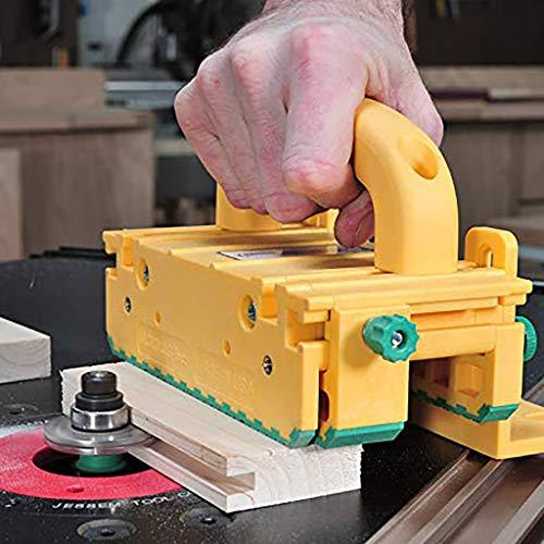3D-Schieber für Tischkreissägen, Frästische, Bandsägen und Abrichthobel von MicroJig GRR-Ripper 3D pushblock