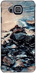 The Racoon Grip printed designer hard back mobile phone case cover for Samsung Galaxy Alpha. (rocky wate)