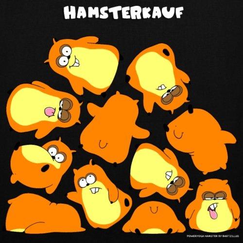 Spreadshirt Hamsterkauf Stoffbeutel Schwarz