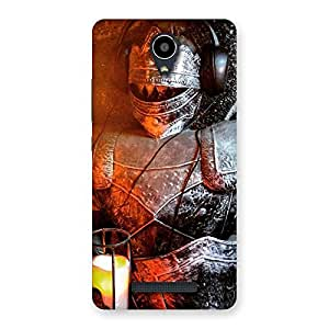 Enticing Warrior Knight Print Back Case Cover for Redmi Note 2