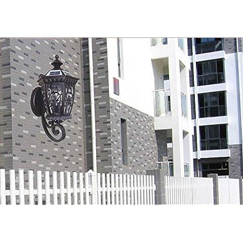 Continental lampada parete lampada terrazza giardino impermeabile all'aperto illuminazione solare lampade da parete doppia navata luci giardino cancello Applique