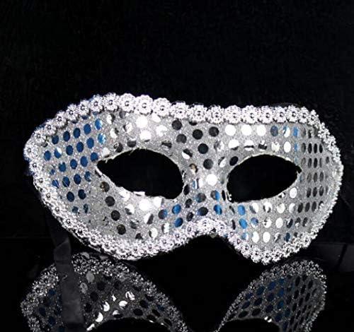 SunnyGod Ajoutez du du Ajoutez Style à Votre fête Masque de tête Fleur pailletée tête Plate Masque de fête Halloween Masque (Blanc) 6ce2b3