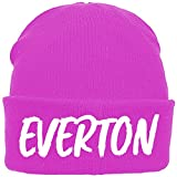 Kids Pink Beanie with Everton Design. Brand New