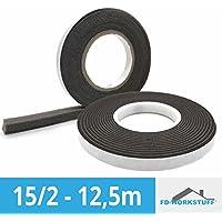 15/2BG1–Cinta Antracita 12.5m rollo expande Junta de ventana resistente al cubrejuntas de cinta para juntas