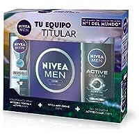NIVEA MEN Pack Men de 3 productos, set de baño para hidratar la piel, set de regalo para hombre con protección antitranspirante y revitalizante