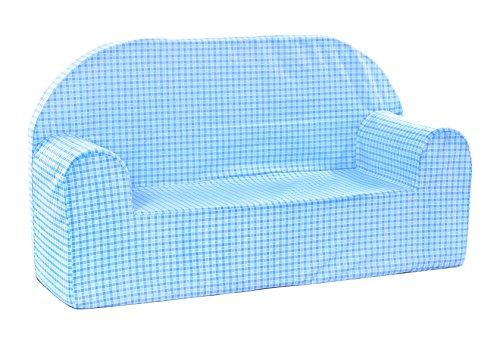 Babyblume Polstermöbel Sitzgruppe Kindermöbel Pikolo in verschiedenen Farben (Blau Kariert) - 5