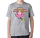 Cute cartoon cow logo Unisex Kids TShirt