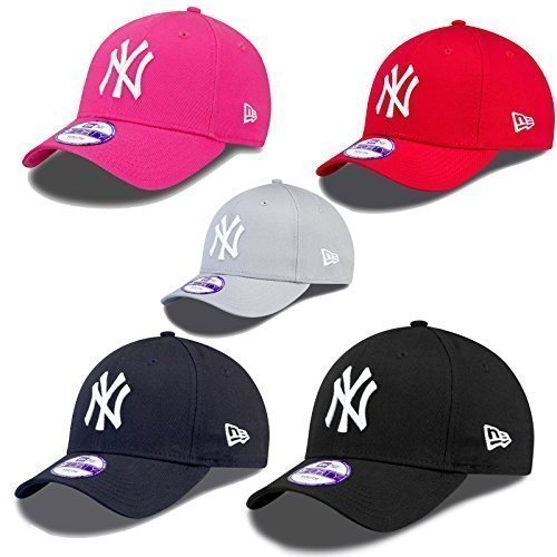 8fd1b6899 New Era 9Forty Strapback enfants jeunes Casquette MLB Yankees de New York  Plusieurs couleurs - Gris #2551, Child = 52 - 53cm