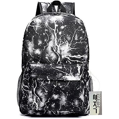 Nueva venta caliente Galaxy Mochila unisex escolar Bolsa de viaje (Blue), Galaxy Schwarz
