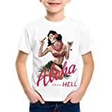 Photo de style3 Aloha from Hell T-Shirt pour Enfants Tatouage Hawaii Surfer USA par style3