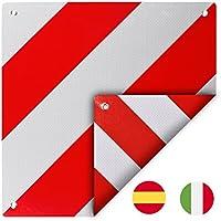 D'Avertissement pour retourner pour l'Italie et l'Espagne Aluminium avec œillets 50x 50cm