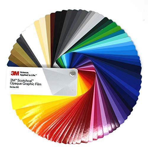 Farbfächer 3M Wrap Film 1080/1380 Di-Noc 8900 580E Scotchcal 80 100/983/180 Folie Autofolie Werbung (Farbfächer 3M Scotchcal 80 Series) 8800-serie