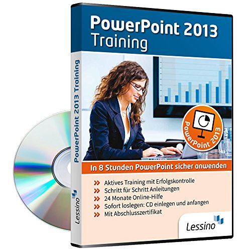 PowerPoint 2013 Training - In 8 Stunden PowerPoint sicher anwenden | Einsteiger und Auffrischer lernen mit diesem Kurs Schritt für Schritt die sichere Anwendung von PowerPoint [1 Nutzer-Lizenz] (Total Video Auf Dvd)