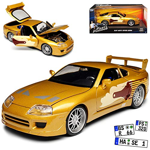 Jada Toyota Supra Gold The Fast and The Furious Slap Jack´s 1995 1/24 Modell Auto (Supra Toyota Modell)