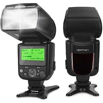 APEMAN Speedlite lampeggiatore per Canon, Nikon, numero guida 58, multifunzionale Portables pacchetto, compatibile con Sony, Panasonic, Pentax e Olympus DSLR