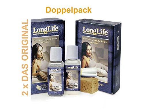 Longlife Leder Pflege Set (2x) für Himolla Longlife Leder (Cleaner Leder Master)