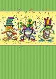 Baumfreie Grüße Unser Geheimnis Geburtstag Karten, 2Card Set, Frösche, farbenreiche (11305)