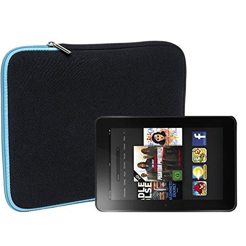 Slabo Tablet Tasche Schutzhülle für Amazon Kindle Fire HD 7 Hülle Etui Case Phablet aus Neopren – TÜRKIS/SCHWARZ