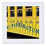 3drose New Hampshire, Bretton Woods, Mont Washington Cog de chemin de fer 2,5cm Lit carré, Multicolore, 14x 35,6cm