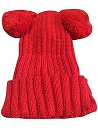OHQ semplice cappello a maglia di lana della ragazza aad98f26c237