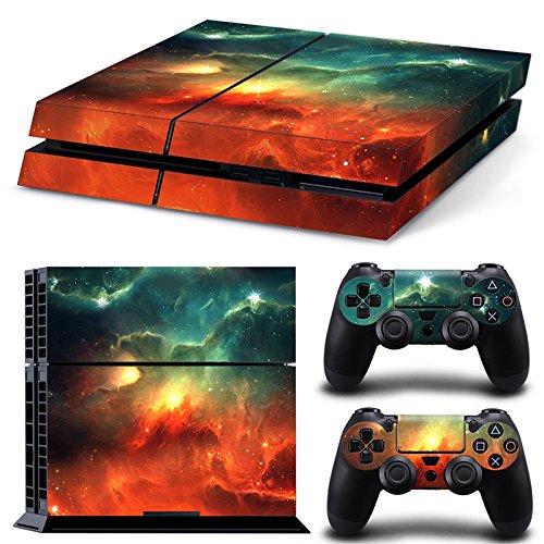 46 North Design Ps4 Playstation 4 Pegatinas De La Consola Galaxy + 2 Pegatinas Del Controlador 511L9qOBDTL